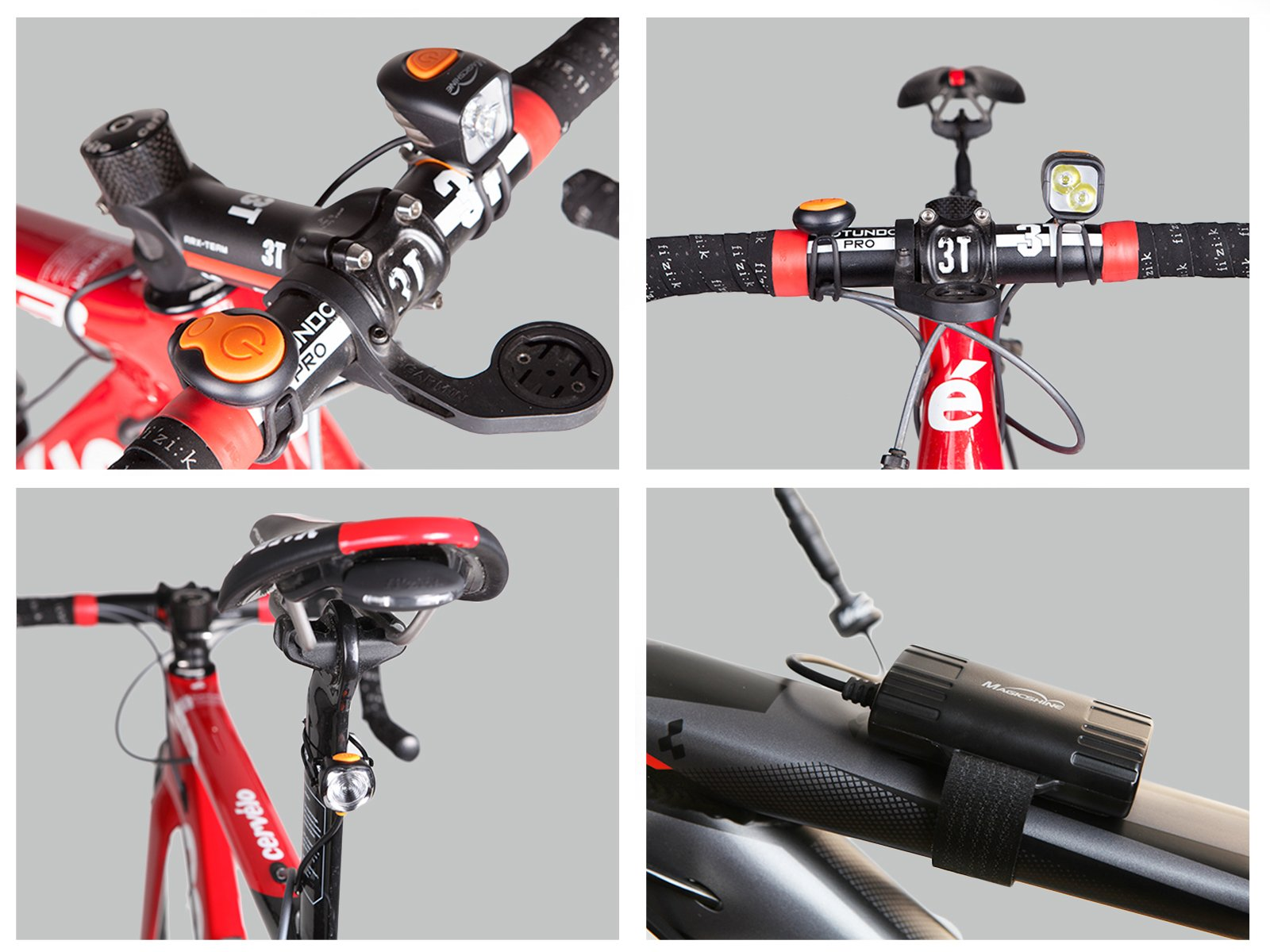 Magicshine MJ 902, 1600 Lumens Bike Light Set, Wireless Remote Bicycle Lights Front And Rear Combo, Rechargeable 2 CREE XM-L2 LED Bike Tail Light, Portable & Convenient Bright Bike Light by Magicshine (Image #4)