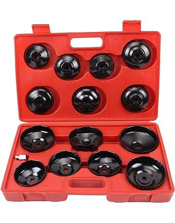 CCLIFE 15 pieza Juego de llaves de filtros de aceite llaves para extraer filtros de aceite
