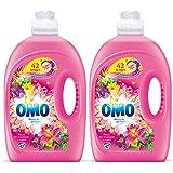 Omo Lessive Liquide Fleurs Des Tropiques Et Magnolia 2,94l 42 Lavages- lot de 2