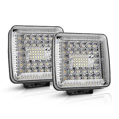 Led Pods Light Bars, Autofeel 4 inch 10000LM Work Light Off Road Driving Fog Light Suber Bright for Truck Pickup Jeep SUV ATV UTV, 1 Year Warranty(2 PCS): Automotive