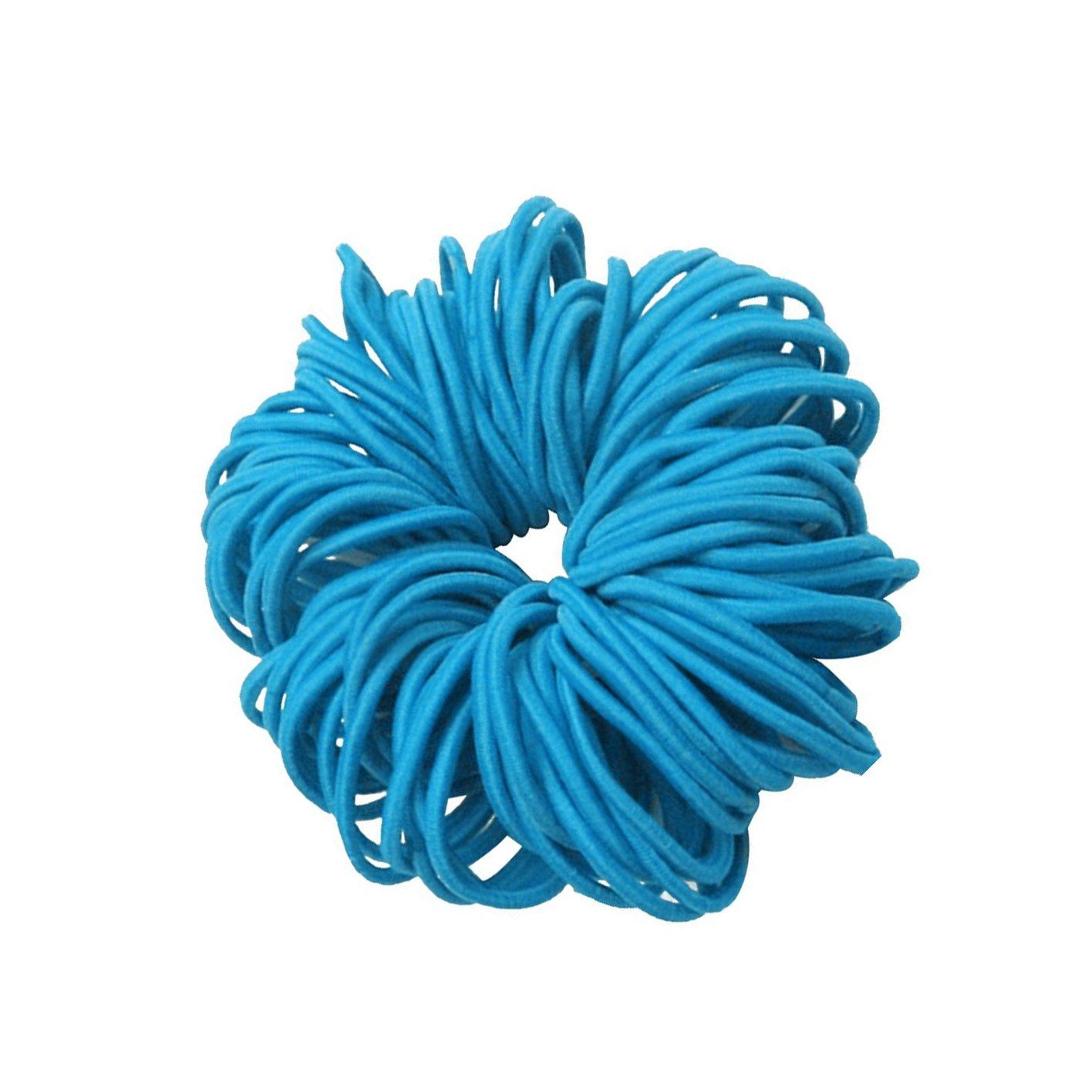 Elastische Haarband, 50 Stück Mädchen Haargummis Kinder Pferdeschwanz Haarband (Rot) Ishua