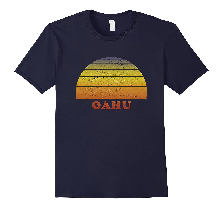Oahu Hawaii Retro Vintage T Shirt 70s Throwback Surf Tees-T-Shirt