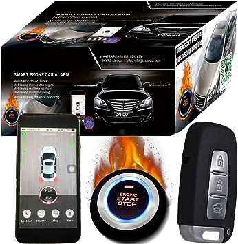 GPS GSM Car alarma y Google Maps sistema de seguimiento por GPS de coches Mobile app mando a distancia Start Stop motor: Amazon.es: Coche y moto