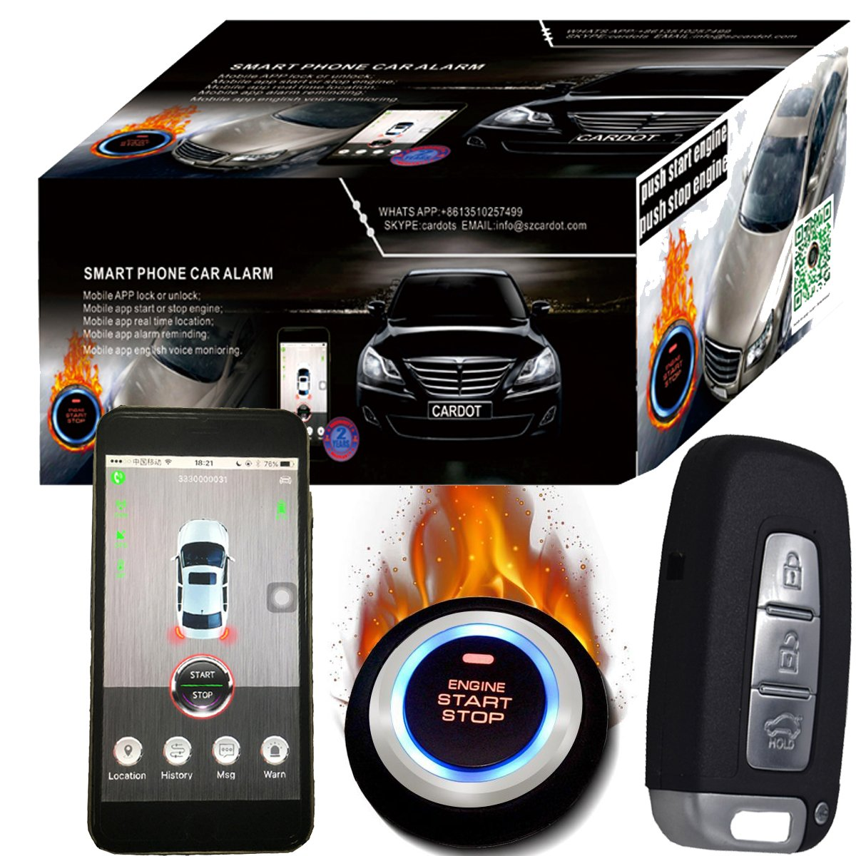 GPS GSM Car alarma y Google Maps sistema de seguimiento por GPS de ...