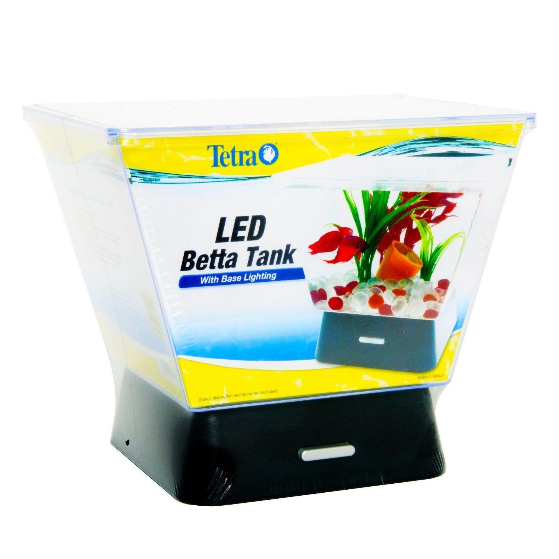 Generic YanHong-US3-151027-112 8yh2477yh Desktop 1 Gal LED Light Betta Tank Home O Gold Fish Bowl Gold Fish Tank Home Office White LED Aquarium 4 White wl Aquari Desktop 1 Gal