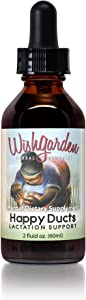 WishGarden Herbs Happy Ducts - Natural Breastfeeding Support Supplement, Organic Tincture for Engorgement Relief and Clogged Milk Ducts with Usnea Lichen, 2 Ounce