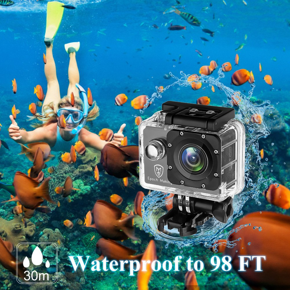 Epoch Making Action Camera, 4K Ultra HD WIFI Waterproof Sports Action Camera With 2-INCH LCD For Racing,Riding,Motorcycle,Surfing,Diving,Snorkeling,and More Water Sports by Epoch Making (Image #3)