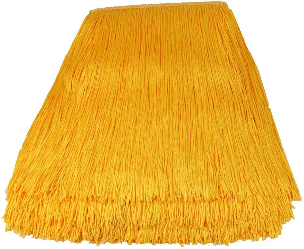 Heartwish268 Fringe Trim Lace Polyerter Fibre Tassel 12inch(/″) Wide 10 Yards Long for Clothes Accessories and Latin Wedding Dress and DIY Lamp Shade Decoration Black Golden Yellow