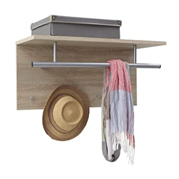FMD Möbel 441-001 Spot - Perchero con estante (72 x 35 x 29,5 cm), color roble: Amazon.es: Hogar