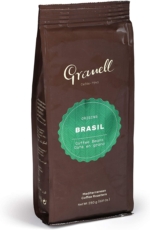 Granell - Pure Origin - Cafe Brasileño | Cafe en Grano 100% Café Arabica - Café Fino de Cuerpo Equilibrado con una Especial Fragancia y Sabor Suave - 250 Gramos: Amazon.es: Alimentación y bebidas