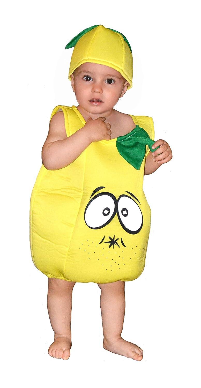 EL CARNAVAL Disfraz Limón Talla de 1 a 2 años - Disfraz Fruta ...