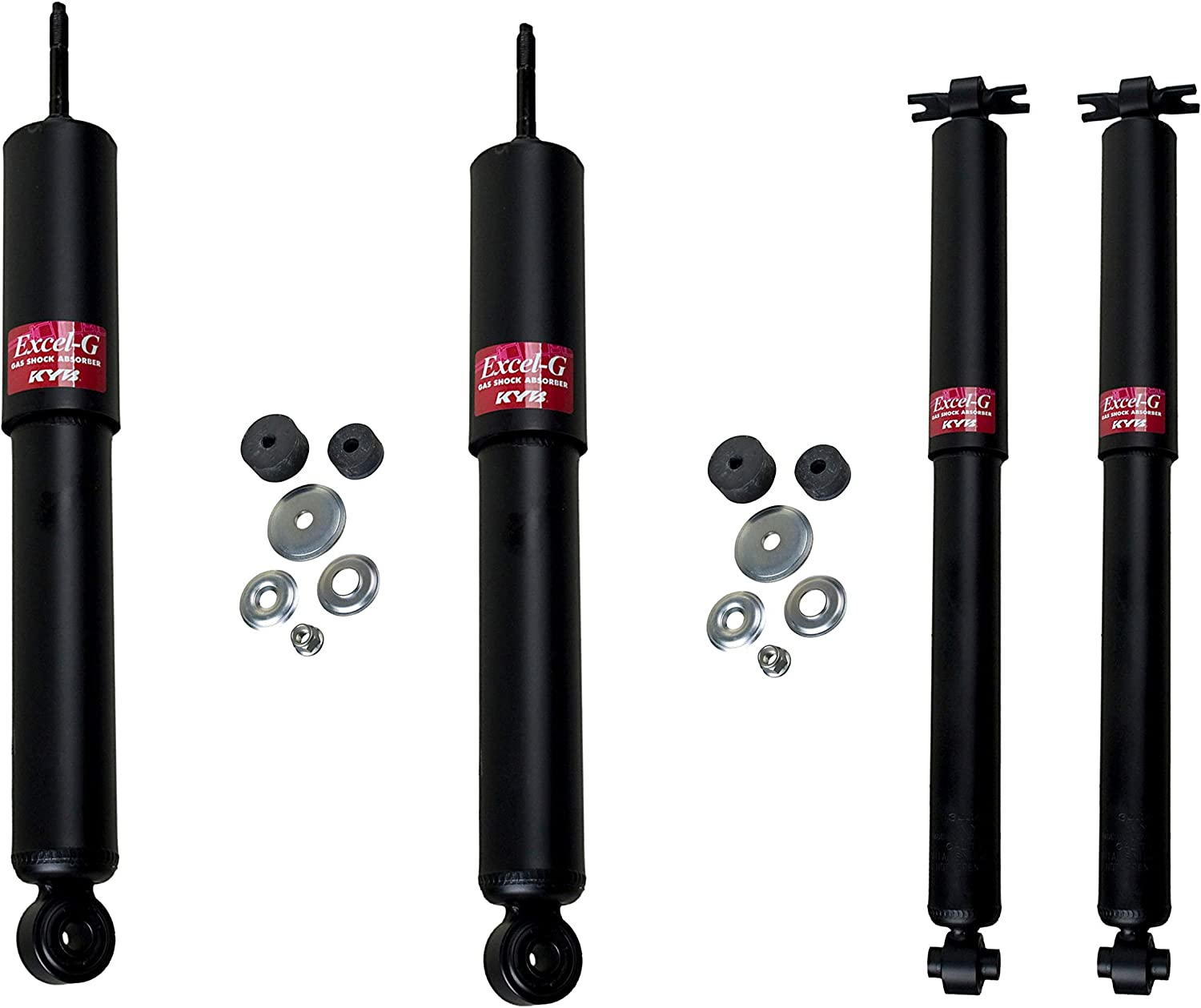 Front /& Rear Shock Absorbers KYB Gas-a-Just For Chevy GMC Sierra 2500 HD RWD