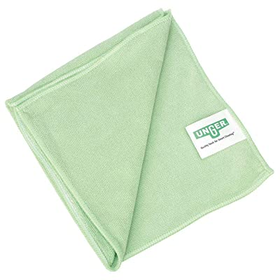 "Unger MF400 SmartColor MicroWipe Heavy Duty Microfiber Cloth, 16"" Length x 15"" Width, Green (Case of 10): Industrial & Scientific"