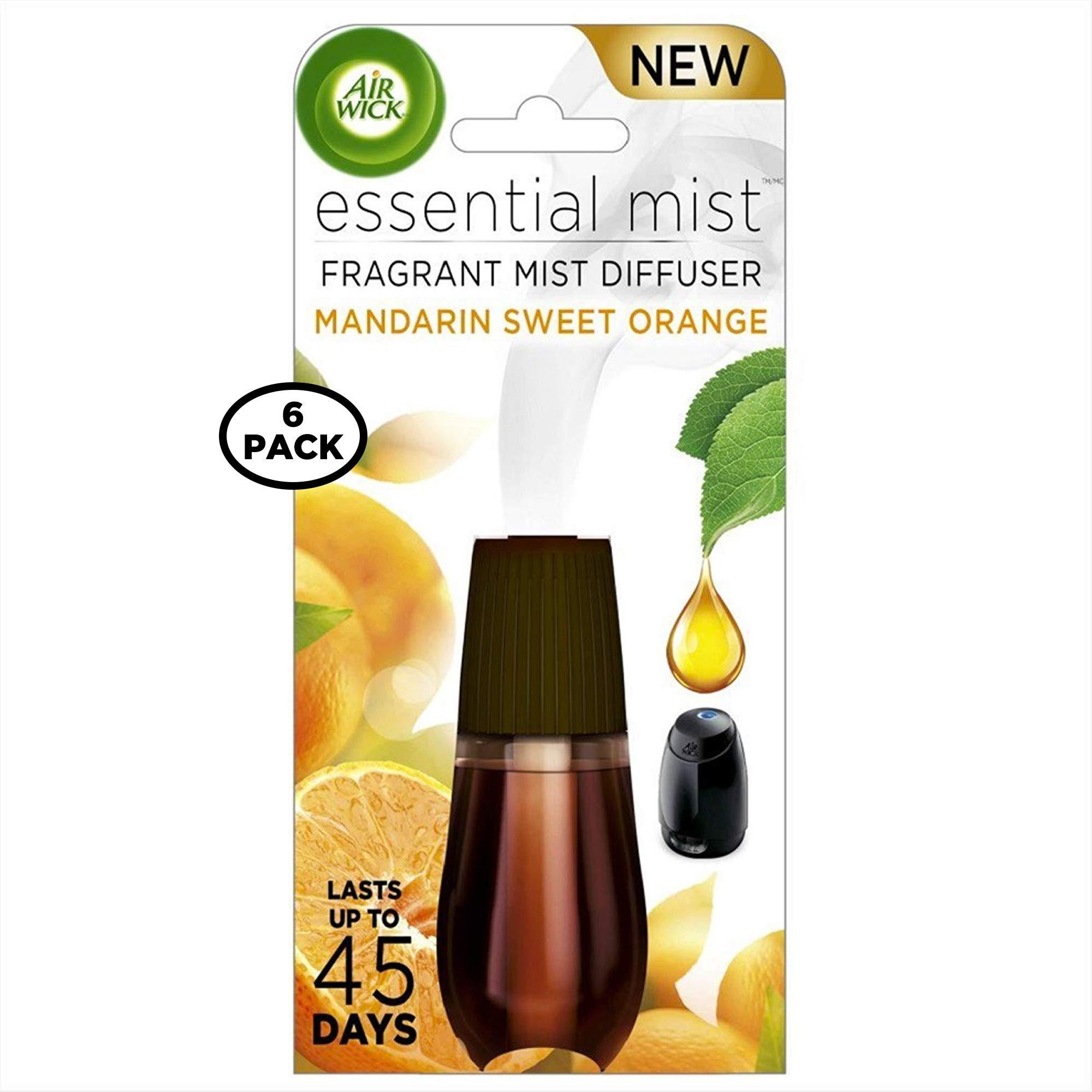 AIR WICK Essential Mist Refill, Mandarin & Sweet Orange 1 ea (Pack of 6) by Air Wick