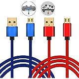 Connyam PS4用コントローラー充電ケーブル DUALSHOCK4用充電USBケーブル XBOX ONEコントローラー用充電ケーブル(2本*3m)