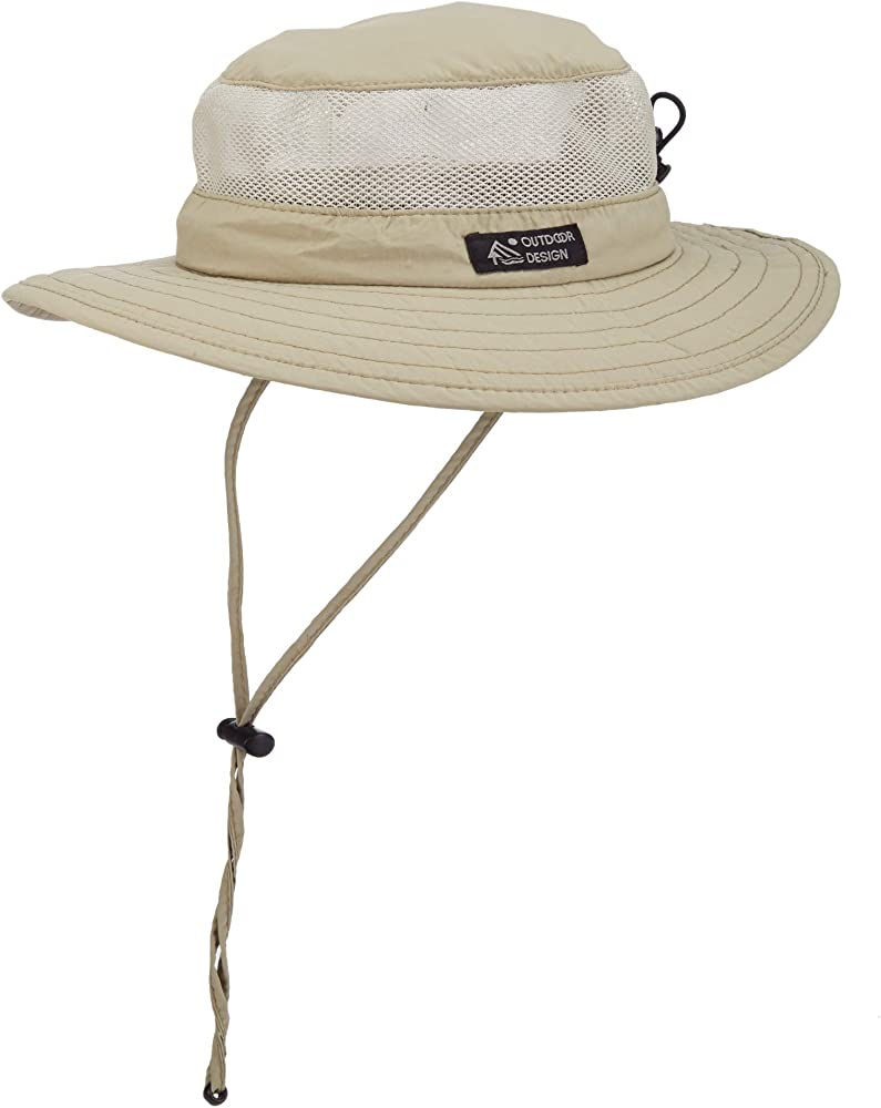be4fa19f Dorfman Pacific Men's Bonnie Mesh Sides Hat, Khaki, Medium at Amazon ...