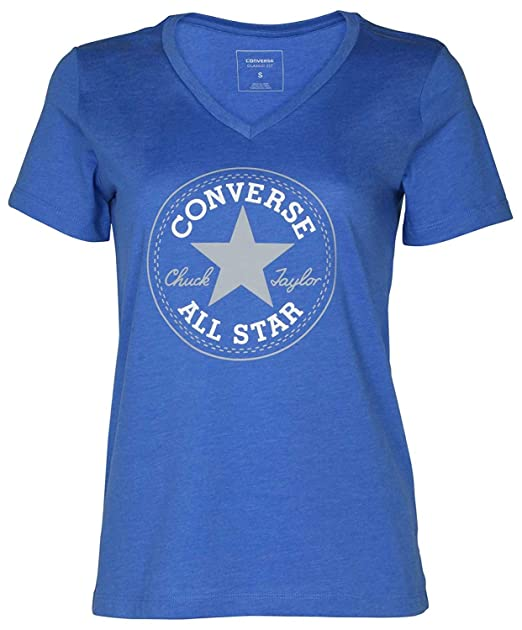 f312ca42e61 Converse Women s Short-Sleeve All-Star Chuck Taylor Patch Graphic T-Shirt  Tee at Amazon Women s Clothing store