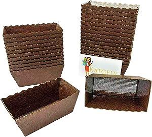 Katgely Dark Brown Mini Loaf Mold (Pack of 100)