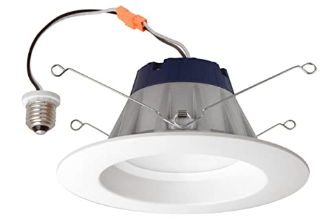 brand new 10a4a 1cb0a SYLVANIA General Lighting 74291 LED Bulb 65W Equivalent Warm 3000K Ultra RT  5/6 Recessed Downlight Kit with Medium Base and White Trim