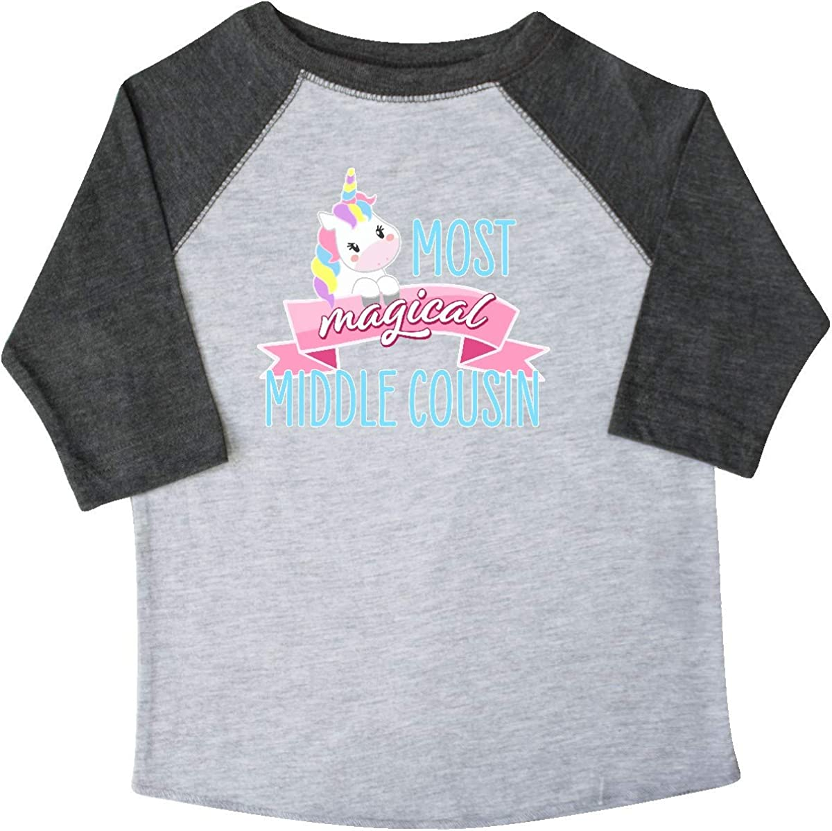 inktastic Most Magical Middle Cousin Cute Unicorn Toddler T-Shirt