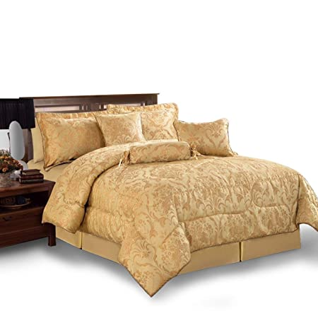 Moonlight20015 Jacquard 7 Piece Bedspread With Matching Pillow