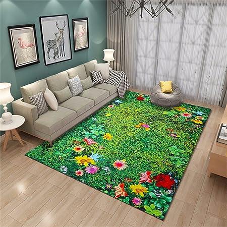ADLFJGL Sala De Estar Alfombra 3D Impreso Alfombra Jardín Estilo Dormitorio Alfombrillas Alfombras De Baño Alfombras De Baño D Alfombras: Amazon.es: Hogar