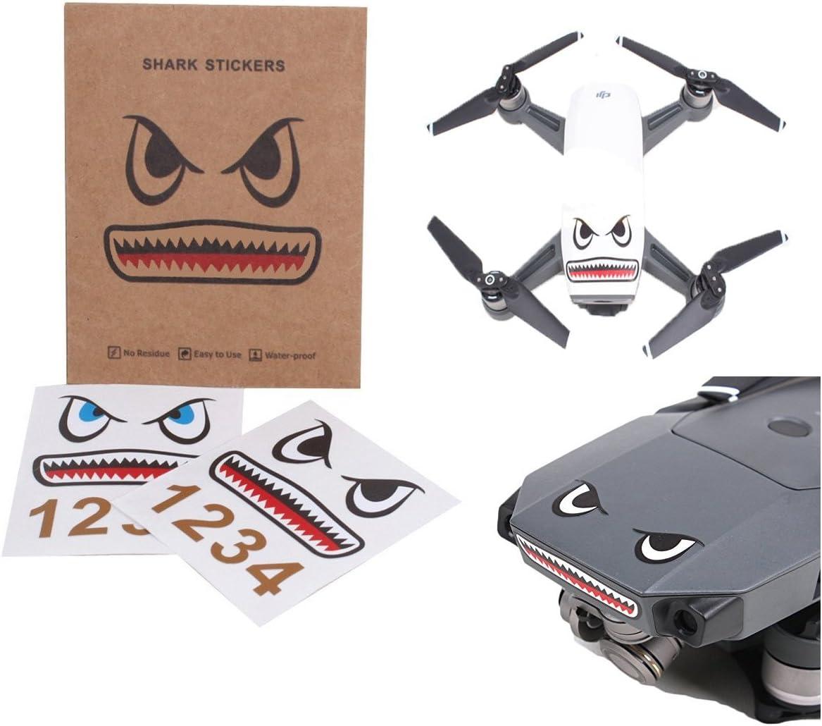 Darkhorse Shark Face Design Sticker Decal Skin DIY Accessory for DJI Mavic Pro/ Mavic Air /Mavic 2 Mavic 2 Pro & Spark