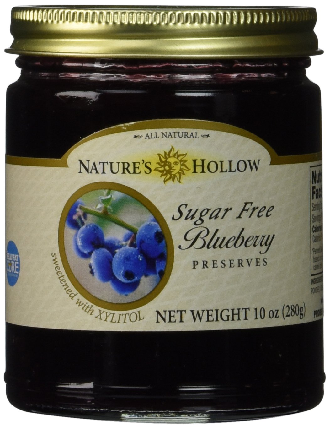 Nature's Hollow Sugar-Free Blueberry Jam Preserves, 10 Ounce