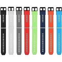 Sunbaca Pulseira de relógio de 20mm pulseira de silicone io de liberação rápida com la pulseira respirável compatível…