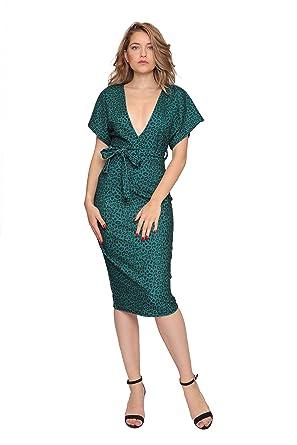 fc9b5e50c6ba7 Aarzoo Women's Leopard Print Bodycon Evening Midi Dress: Amazon.co ...