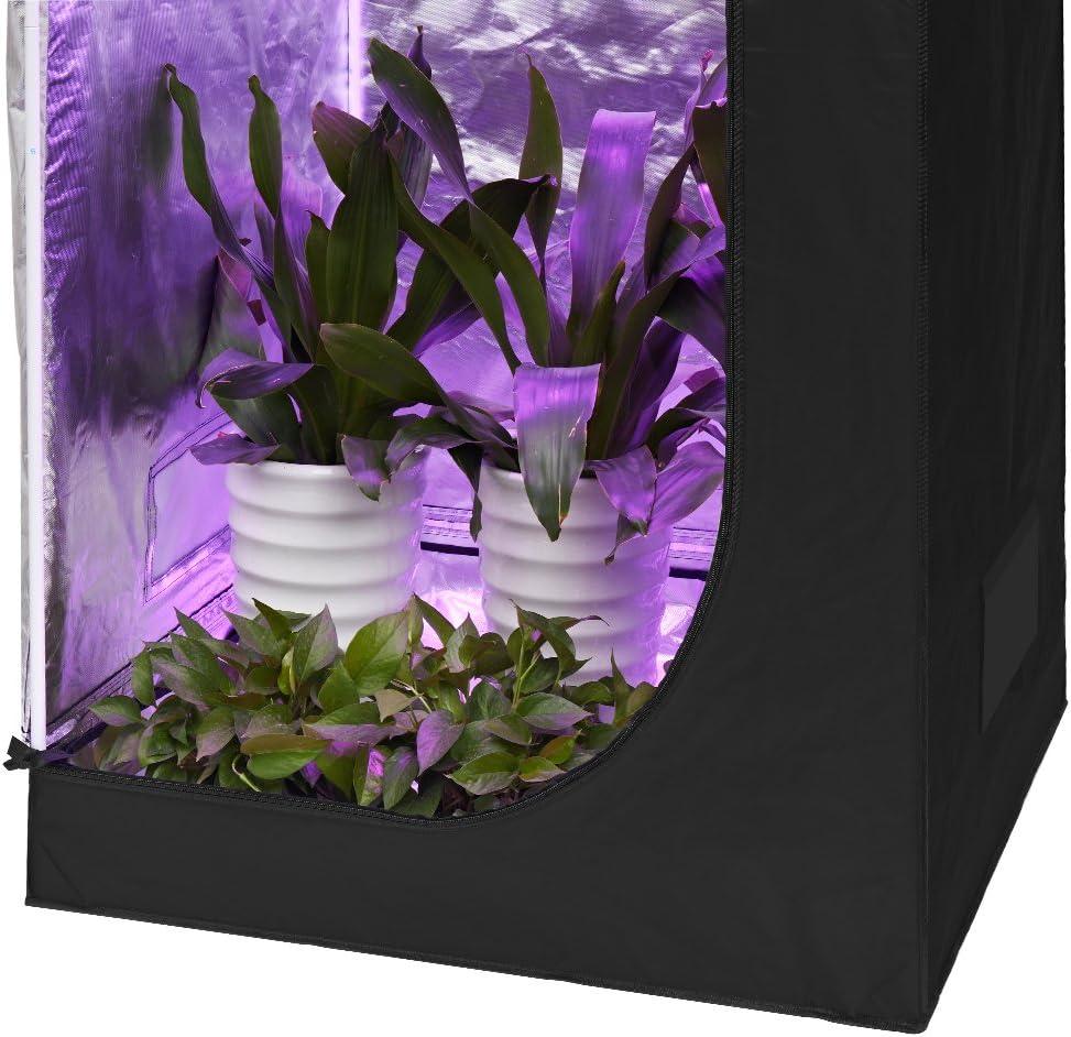 Flores y Vegetales Plantas Todo el A/ño Frutas Finether Armario de Cultivo Interior 120x120x200 cm Grow Box Hidropon/ía para Jard/ín Resistente a la Luz e Impermeable Ideal para Pl/ántulas Hierbas