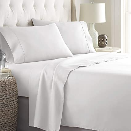 US Home Bedding Collection 1000 TC 100/%Egyptian Cotton White Color Full Size