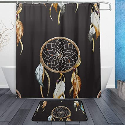 Amazon LORVIES Dreamcatcher Bathroom Set Polyester Fabric