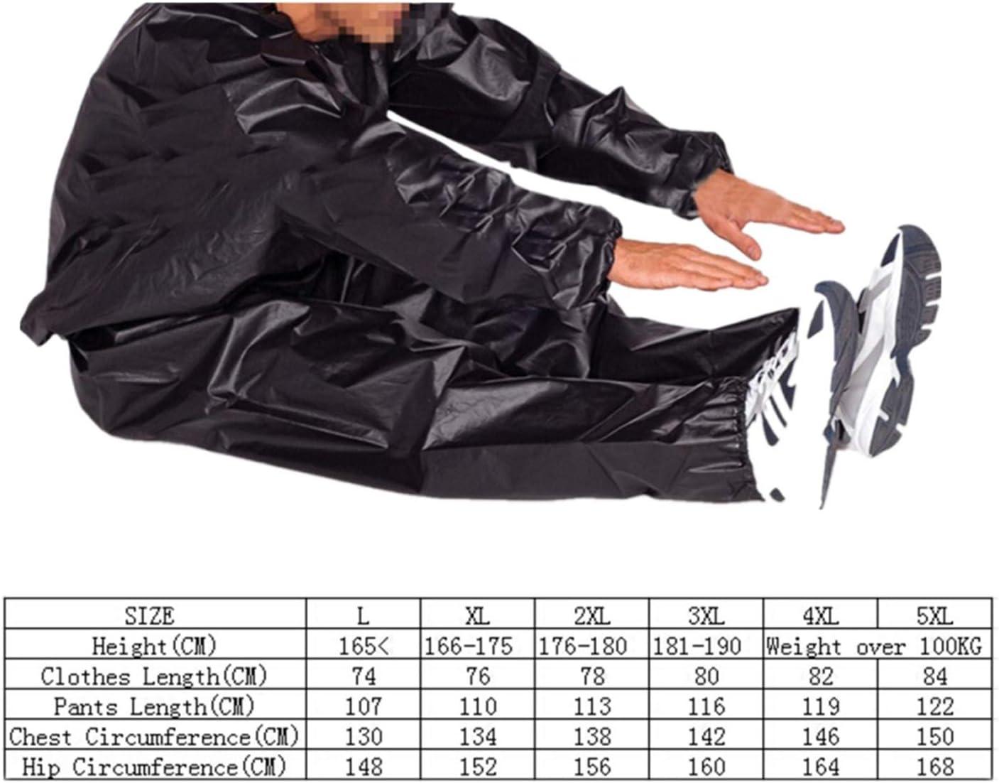 FairytaleMM Wasserdicht Winddicht PVC Saunaanzug Anti-Rip Training Fitness Gewichtsverlust Sport Sauna Kleidung Einfarbig Gym Anzug