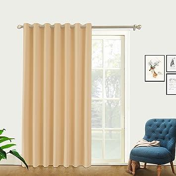 Amazoncom Pravive Slider Door Window Treatments Exra Wide