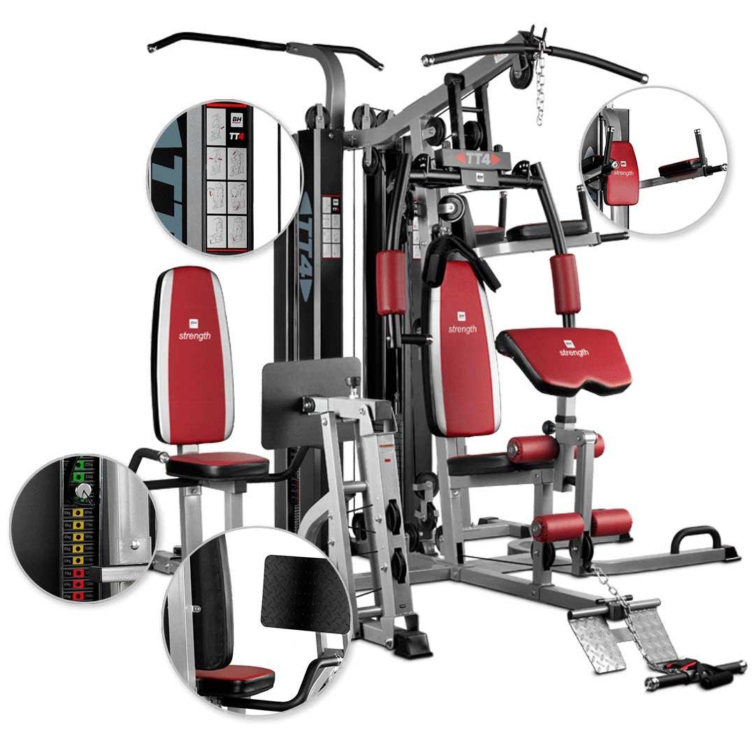 4 Nutzer gleichzeitig BH Fitness TT-4 G159 Kraftstation Fitnessstation 4 Stationen
