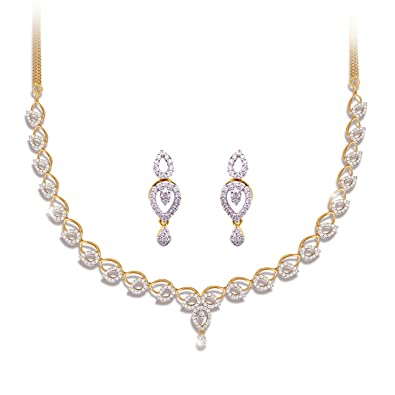 Buy joyalukkas pride diamond collection 18k 750 yellow gold and joyalukkas pride diamond collection 18k 750 yellow gold and diamond chain necklace aloadofball Image collections