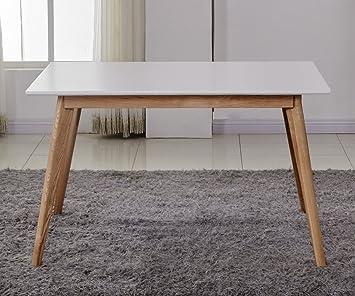 ComptoirXL Table à Manger Design scandinave AIKA 120 cm x 80 cm chêne et  Blanc 9d58ef9d5858
