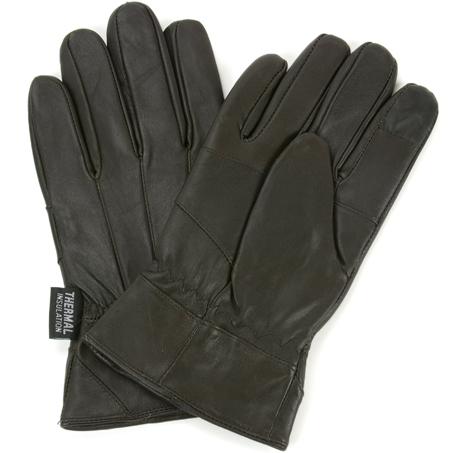 Insulated leather motorcycle gloves - Alpine Swiss Mens Touch Screen Gloves Leather Thermal Lined Phone Texting Gloves At Amazon Men S Clothing Store