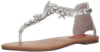 UNIONBAY Women's Jewel Dress Sandal, Silver, ...