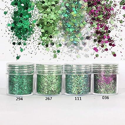 KBZHAE7-10 colores de lentejuelas para decoración de uñas, diseño de lentejuelas con purpurina