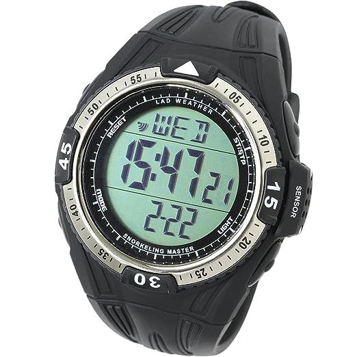 LAD WEATHER Reloj Buceo Medición de Profundidad Temperatura de Agua Cronómetro Esnórquel Snorkel Buceo Deportes al Aire Libre: Amazon.es: Relojes