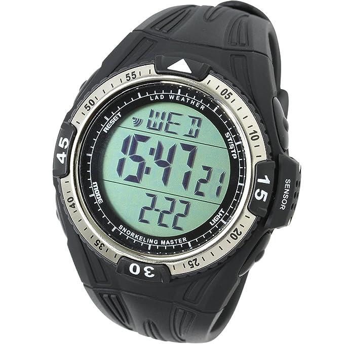 Lad Weather Water Depth Temperature Measure Watch Snorkeling Sport Diving Watches
