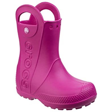 8db89311afa8 Crocs Childrens Kids Handle It Wellington Boots (7 UK Toddler) (Candy Pink