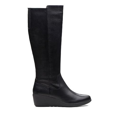 fc6580c2eb04 Clarks Un Tallara ESA Leather Boots in Black  Amazon.co.uk  Shoes   Bags