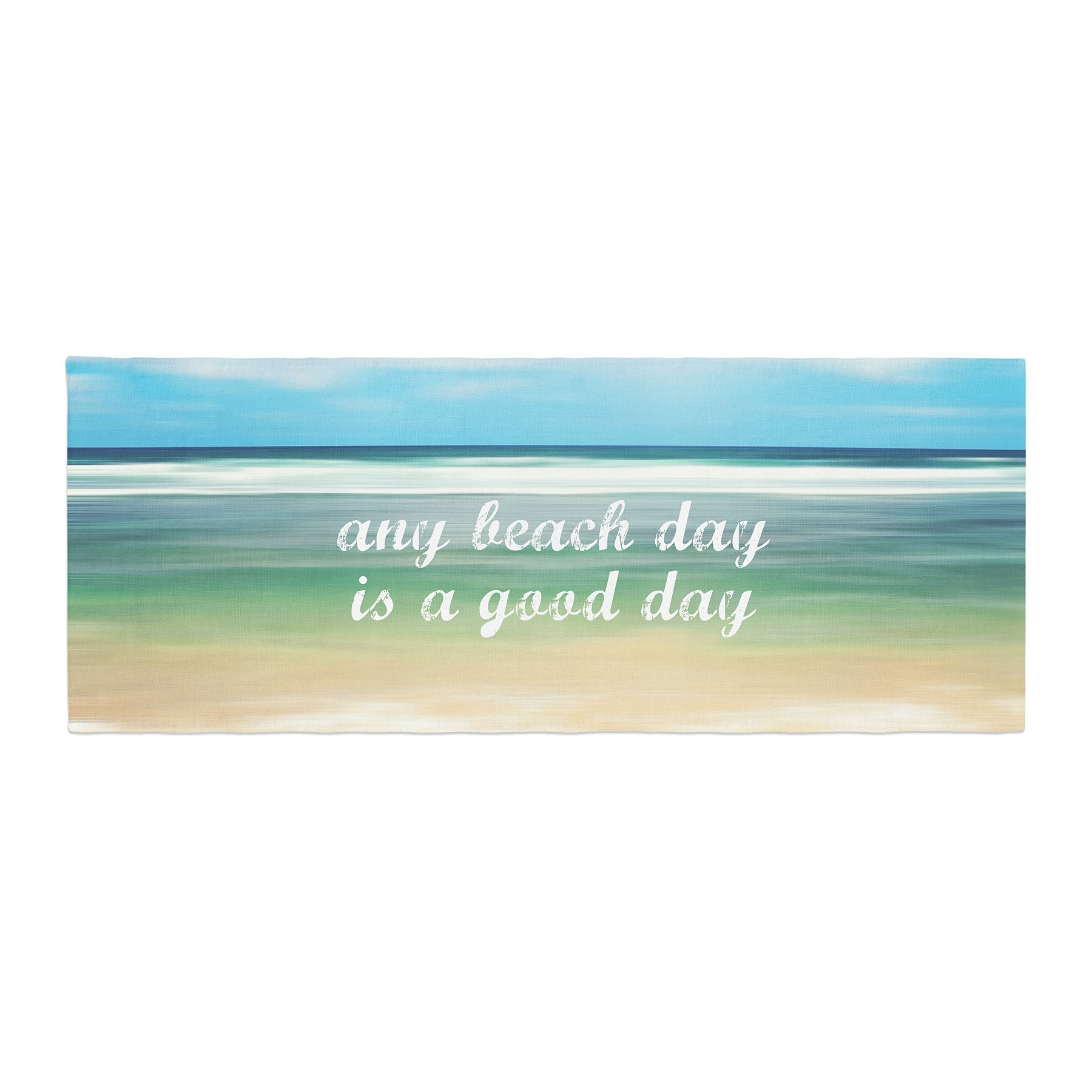 Kess InHouse Sylvia Cook Any Beach Day Coastal Typography Bed Runner, 34'' x 86''