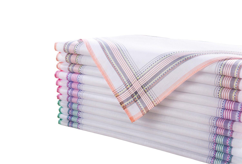 Unbekannt Damen-Taschentücher 12er-Pack Baumwolle