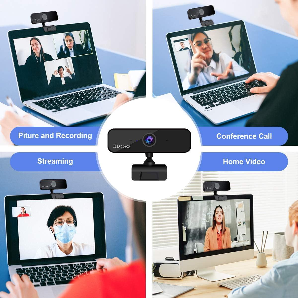 Aufnahme Guo duo Webcam 1080P HD Pro Stream Video Autofokus Streaming Conferencing Digitale Webkamera Video mit Mic USB Widescreen f/ür PC Laptops und Desktop