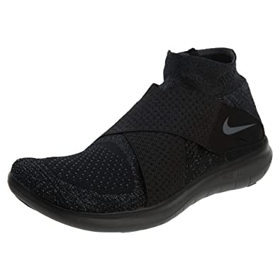 1c4d0bde1250d Image Unavailable. Image not available for. Color  Nike 880845-003  Mens  Free RN Motion FK 2017 Black Dark Anthracite Sneakers