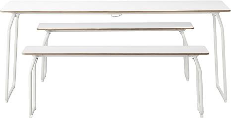 Zigzag Trading Ltd IKEA PS 2014 - Mesa + 2 Bancos, en Blanco ...